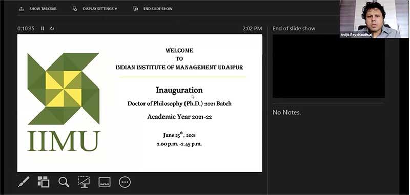 IIM Udaipur Welcomes the PhD 2021 Batch