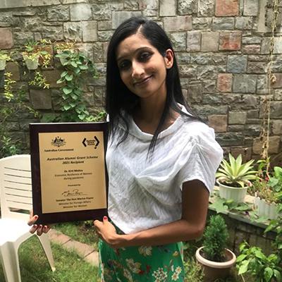 Prof. Kirti Mishra has recently won a research grant at Australian Alumni Grant Scheme.